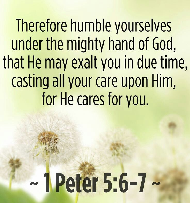 Humble Yourselves Therefore Under The Mighty Hand Of God
