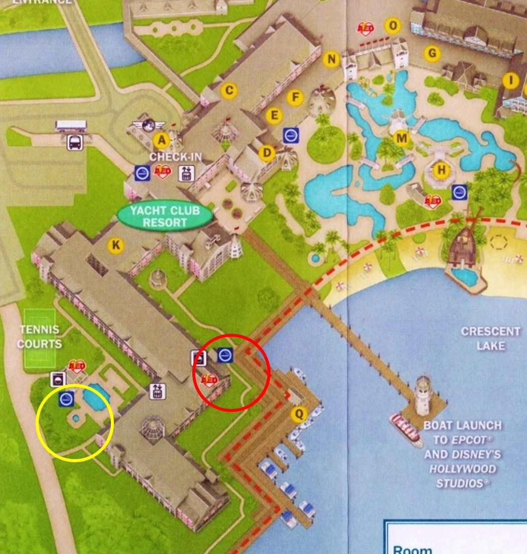 Disney Yacht Club Map on