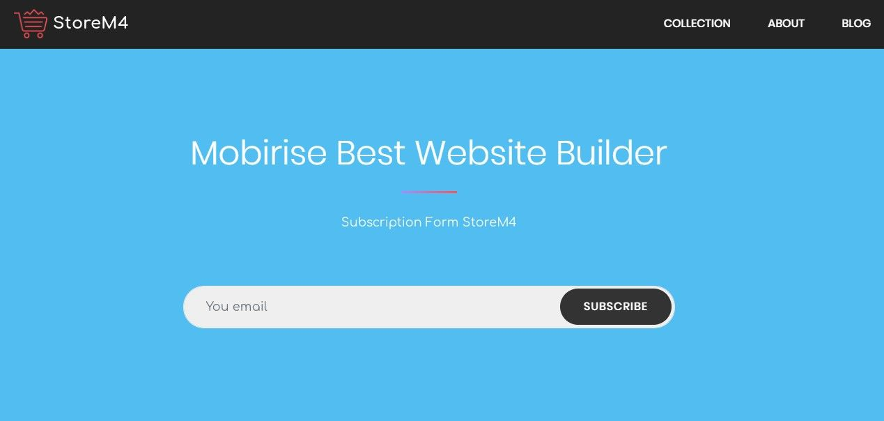 Mobirise Best Website Builder Subscription Form Storem4 In 2021 Subscription Form Subscribe Form Builder Website