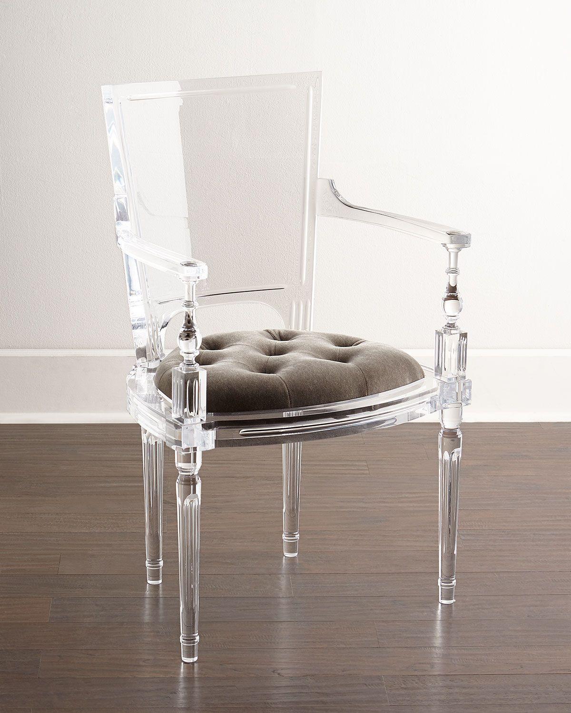 acrylic arm chair glider nursery katherine armchair glamorous home spa designs decor