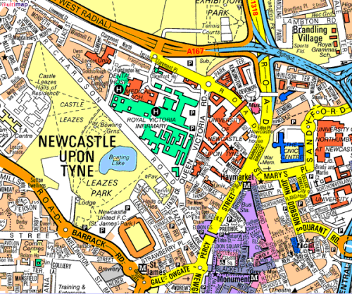 Newcastle Design Experts: Map Of Newcastle Upon Tyne