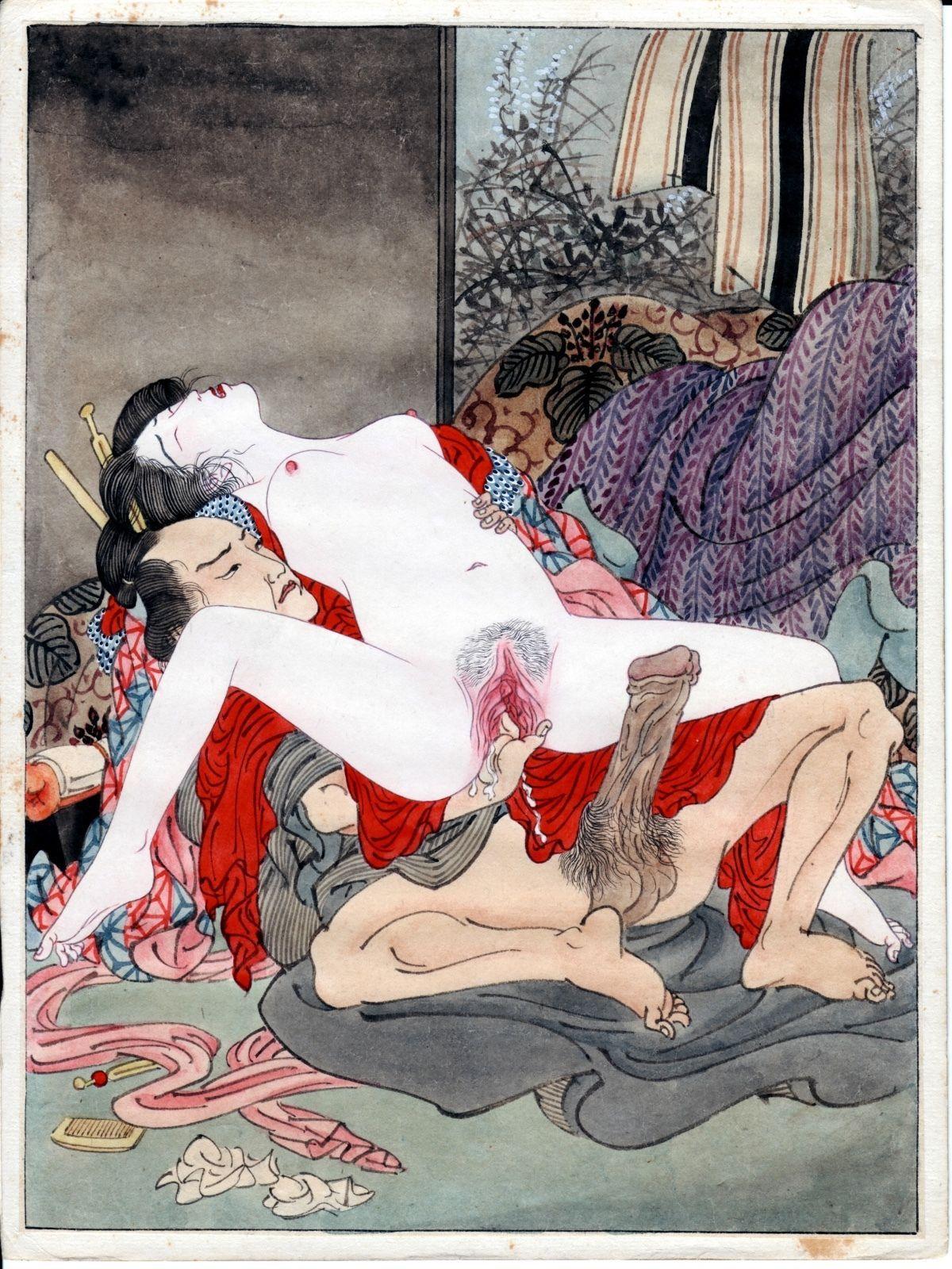Reprints Of Meiji Shunga Paintings