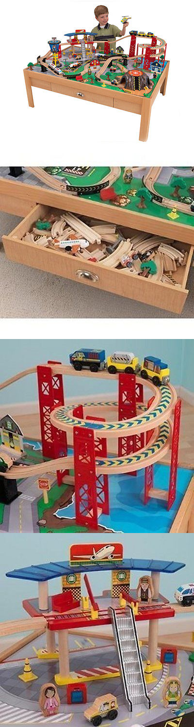 Train Sets 113519: Kidkraft Airport Express Wood Train Table And Toy Set    17975