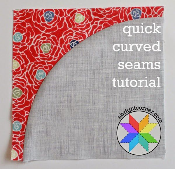 Quick curved seams tutorial from a bright corner patchwork quick curved seams tutorial from a bright corner do yourself a favor and get this under your belt curved seams are not difficult but so many make them a solutioingenieria Images