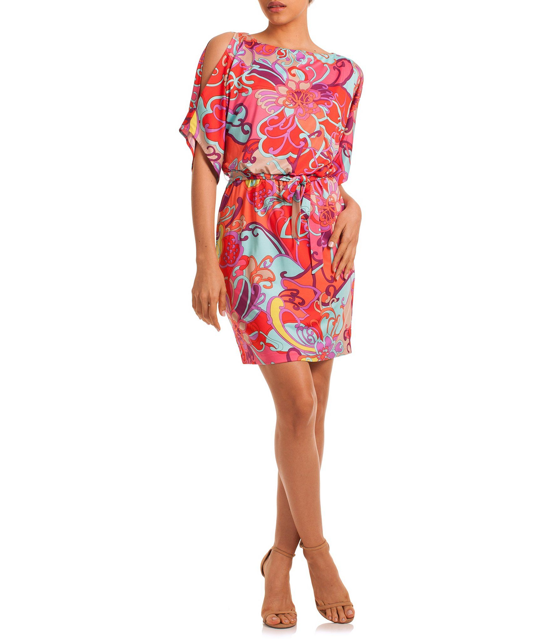 cccd187d07 Shop for trina by Trina Turk Printed Blouson Cold Shoulder Dress at Dillards.com.  Visit Dillards.com to find clothing