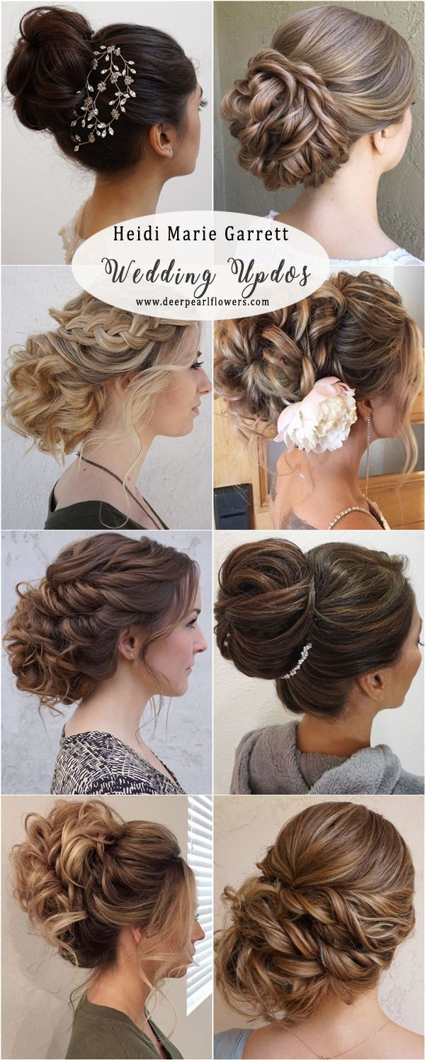 Long Updos wedding hairstyles from Heidi Marie Garrett weddings