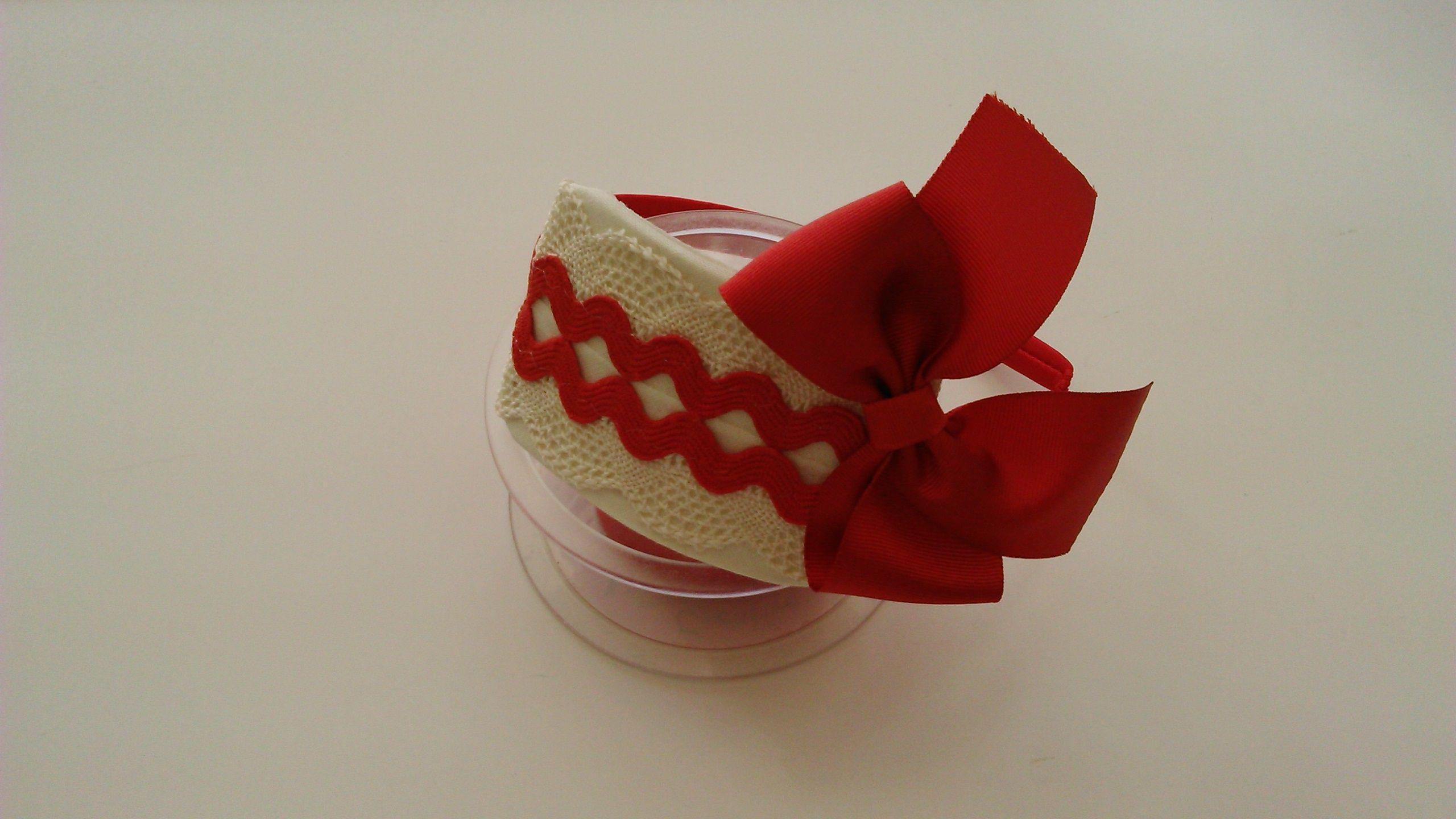 Diadema roja y cruda diademas - Diademas de encaje ...