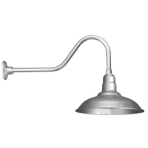 Warehouse Galvanized 16 Inch Outdoor Wall Light American