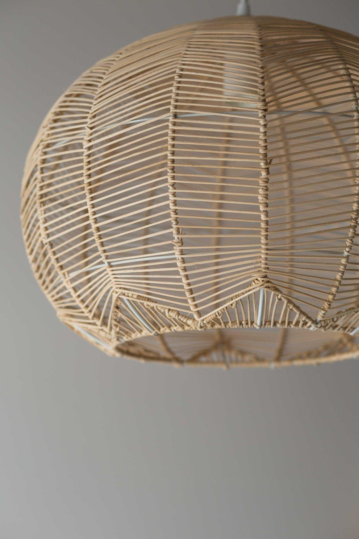 Natural round rattan pendant - pre order | Pinterest ...