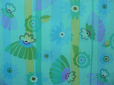 Between Floral Aqua | Online Discount Drapery Fabrics and Upholstery Fabric Superstore!