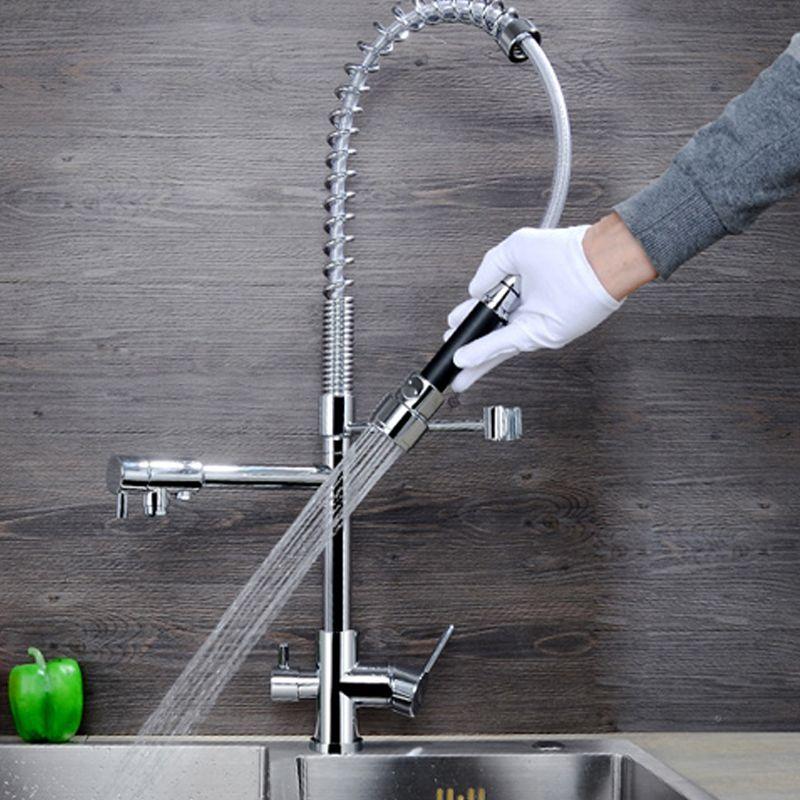 JMKWS Spring Kitchen Faucet Modern Design Kitchen Faucets