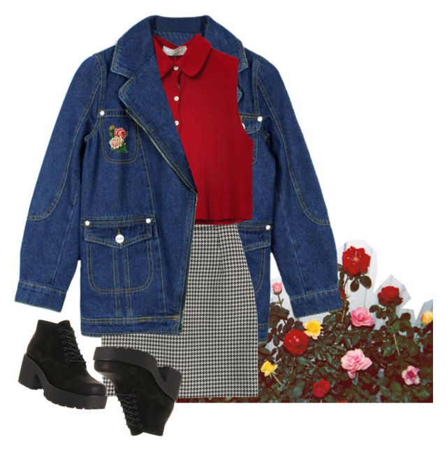 """roses"" by junk-food ❤ liked on Polyvore featuring Sounds Like Home, Chicnova Fashion, Yves Saint Laurent, Vagabond, women's clothing, women's fashion, women, female, woman and misses"