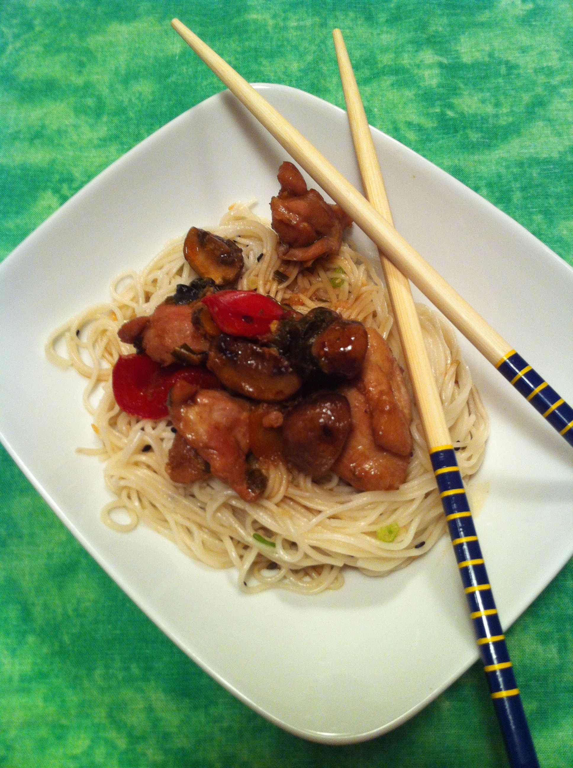 Udon Noodles With Thai Basil Chiken Food And Fun Food