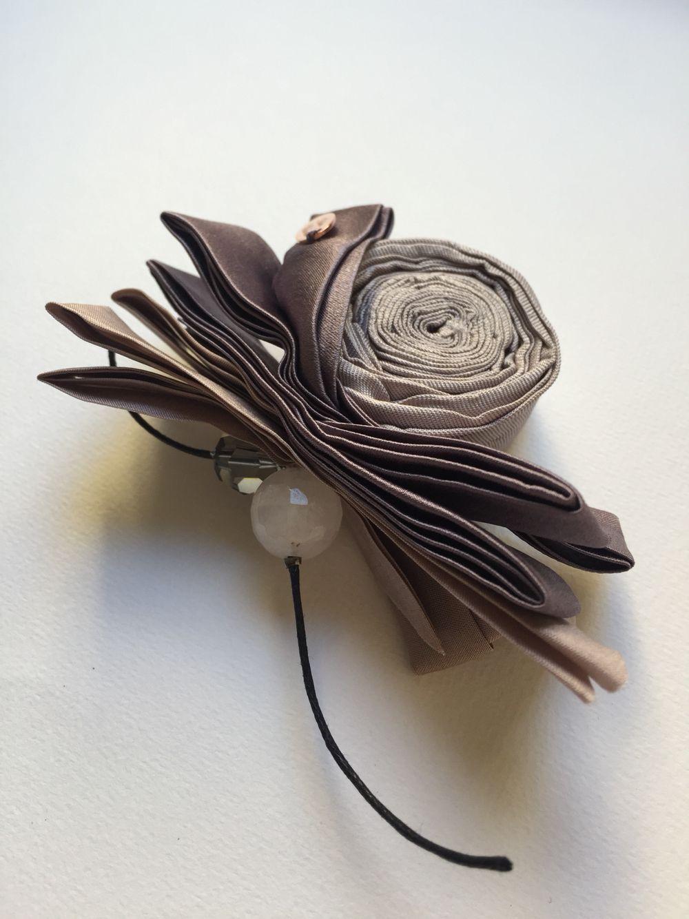 Silk Brooch Silk Flowers Made From Silk With Love