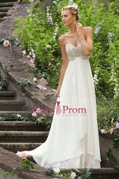 2013 Wedding Dresses Empire Waist Sweetheart Chiffon With Beading&Sequince $ 188.29 GPPCHGQR3F - GorgProm.com for mobile