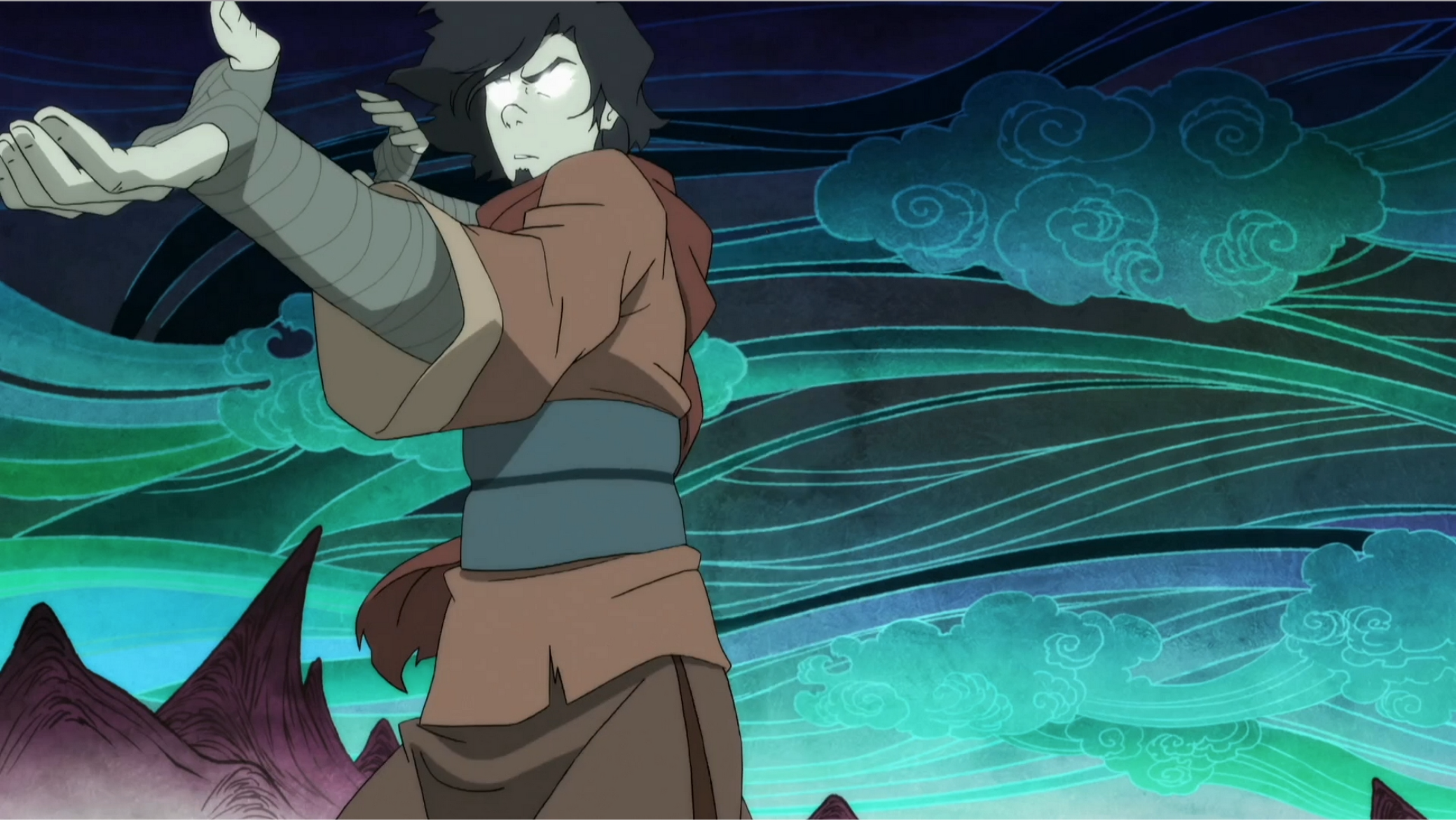 Wan fighting in action against Vaatu from The Legend of