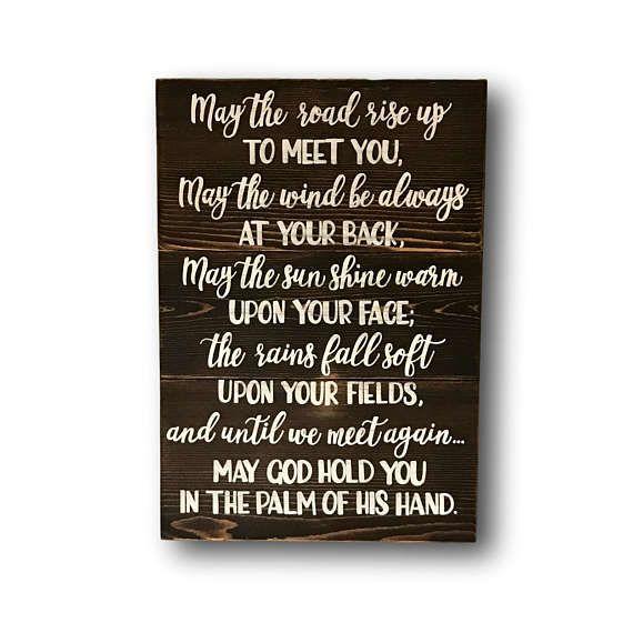 Irish Blessing Pallet Sign Irish Quote Wall Art Irish Wedding ...