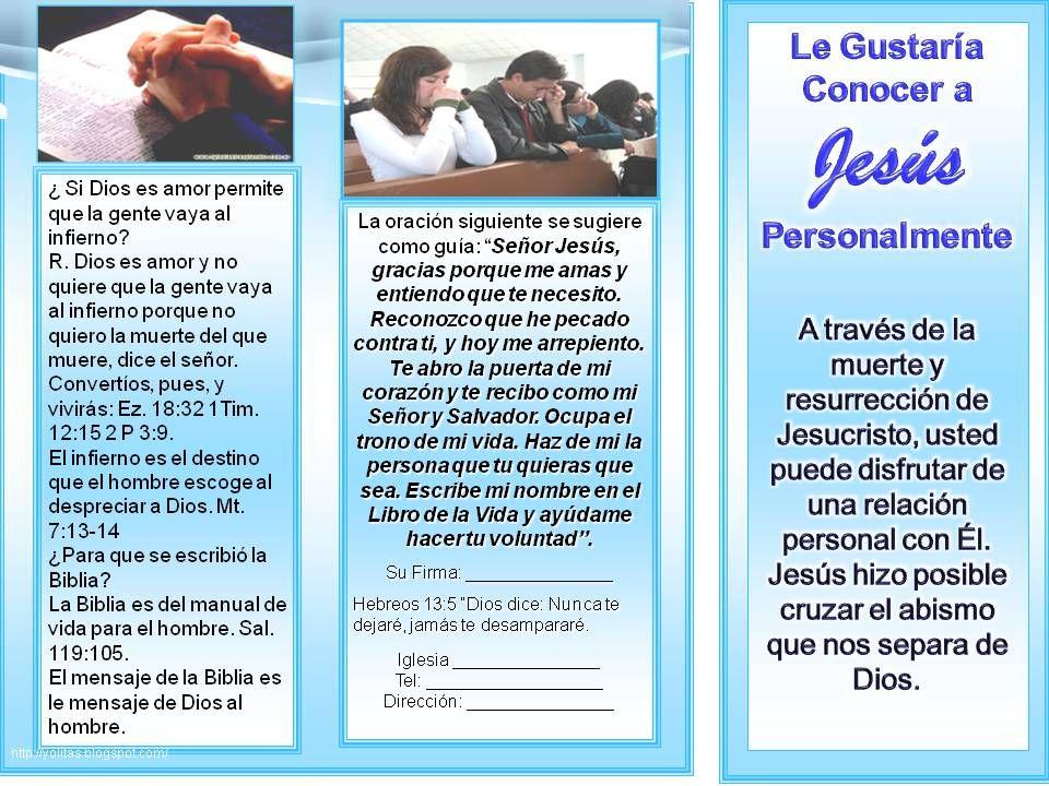 Folletos Cristianos Gratis Tripticos Panfletos Cristianos