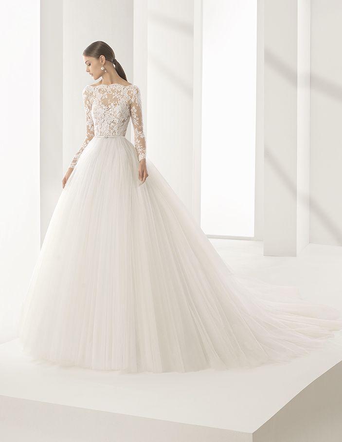 vestido de novia de rosa clará (niher), colección couture, corte
