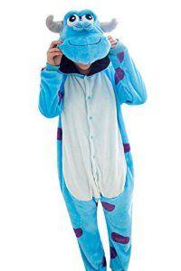 6a526b76d17d8 Keral Unisexe Combinaison Pyjama Cosplay Adultes Costume Animal M Sullivan