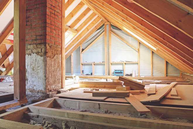 Rafters Vs Trusses For Residential Homes Attic Flooring Attic Remodel Attic Renovation