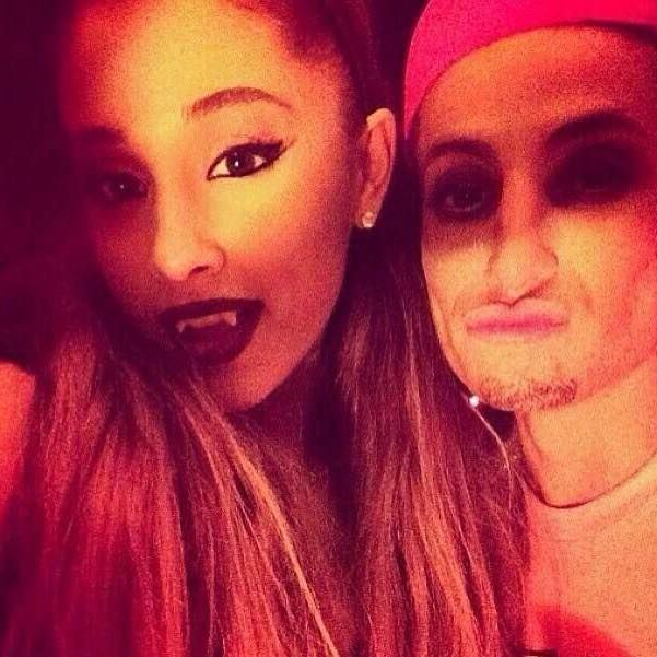 Ariana Grande and her brother Frankie on halloween.