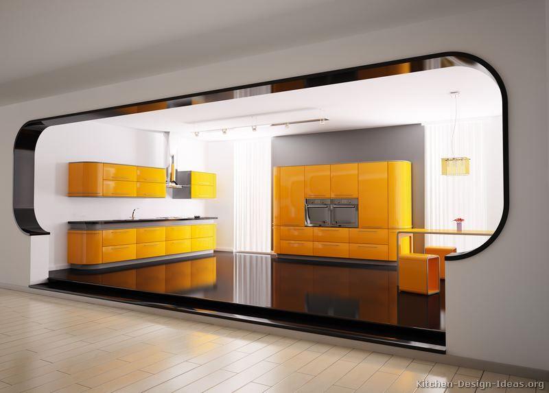 modern red kitchen cabinets #01 (kitchen-design-ideas