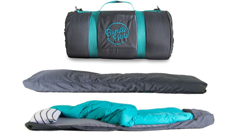 A Sleeping Bag With A Built In Air Mattress Pillow And Sheets Makes Camping Easier Comfortable Camping Tent Camping Beds Camping Bed