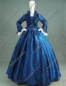 Civil-War-Victorian-Ball-Gown-Period-Dress-Reenactment-Theatre-Clothing-170-L