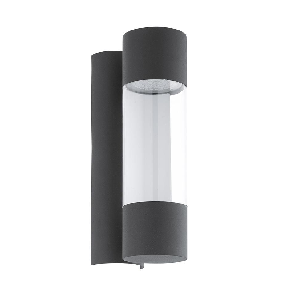 Eglo Robledo 1 Light Anthracite Integrated Led Outdoor Wall Mount Cylinder Light Outdoor Wall Lighting Outdoor Sconces Outdoor Walls