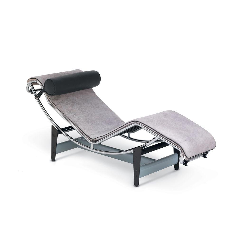 Lc4 Villa Church Chaise Longue Grey Black Leather Lounge Chair Design Furniture Chaise Longue