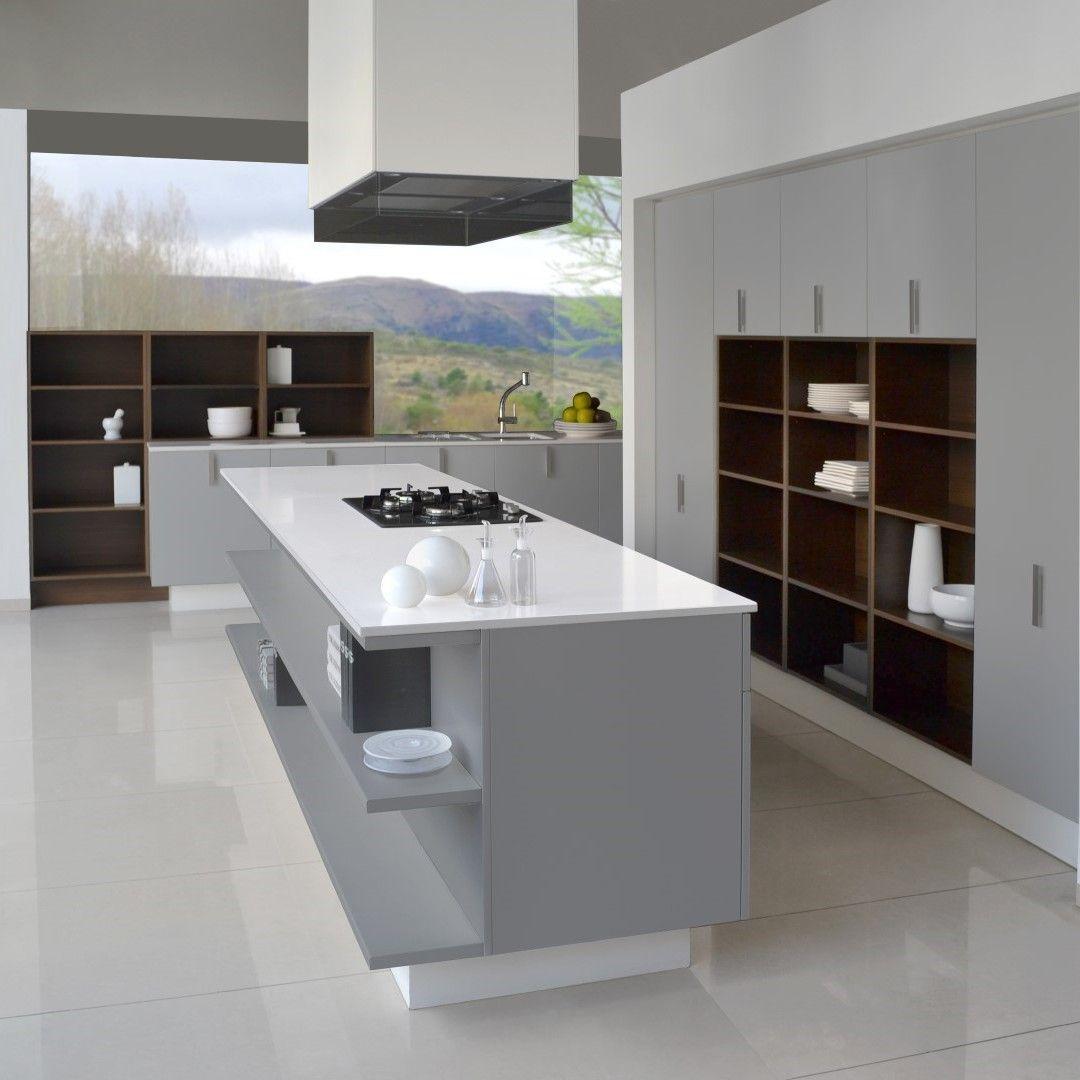 MODELO LACAR Este nuevo modelo de cocina propone líneas rectas y ...