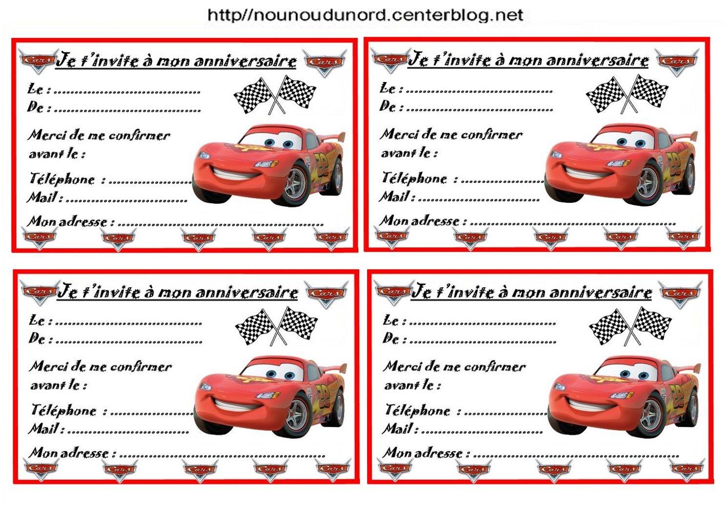 Etiquettes Invitations Cars Pour Anniversaire Invitation Anniversaire Gratuite Carte Invitation Anniversaire Invitation Anniversaire