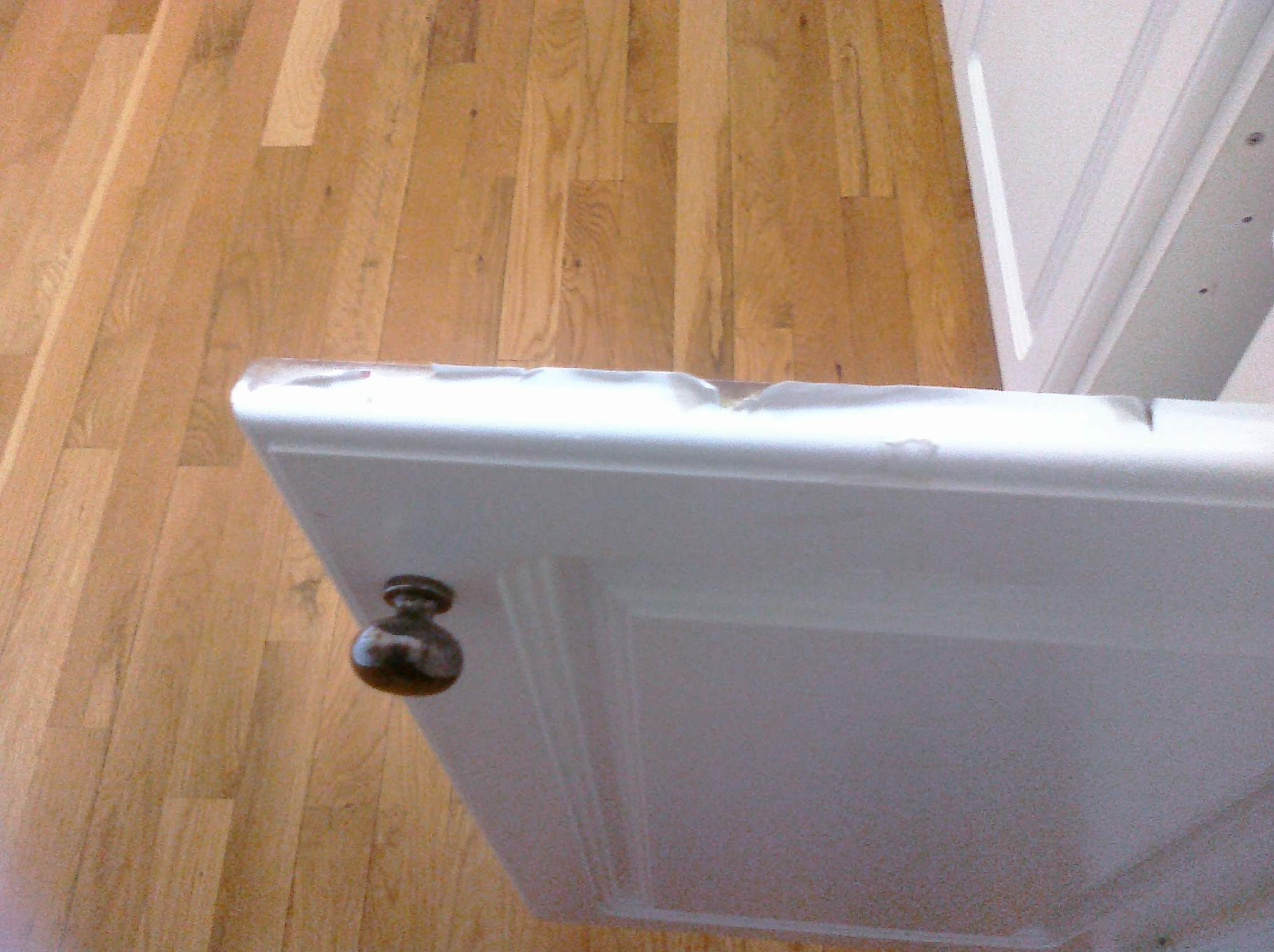 Peeling White Thermafoil Cabinet Door And Drawer F Got