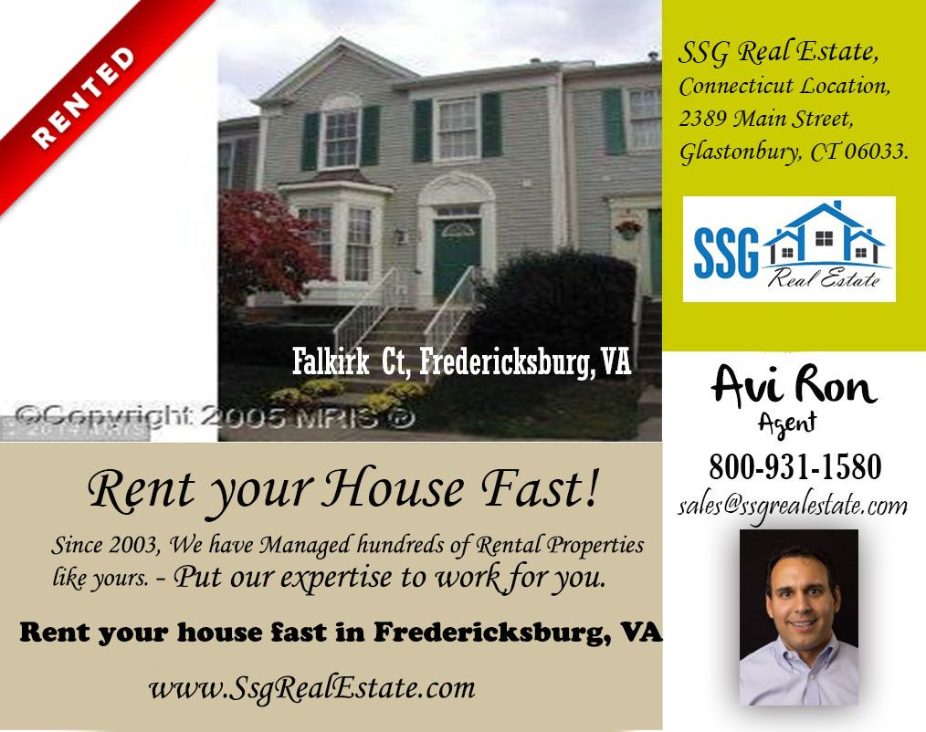 We Recently Rented Home in Springfield, Virginia  SSG Real Estate LLC believes in offering nothing but the very best. Assist those looking to sell/rent their homes determine the current market value.  Call Us Now: 800-931-1580