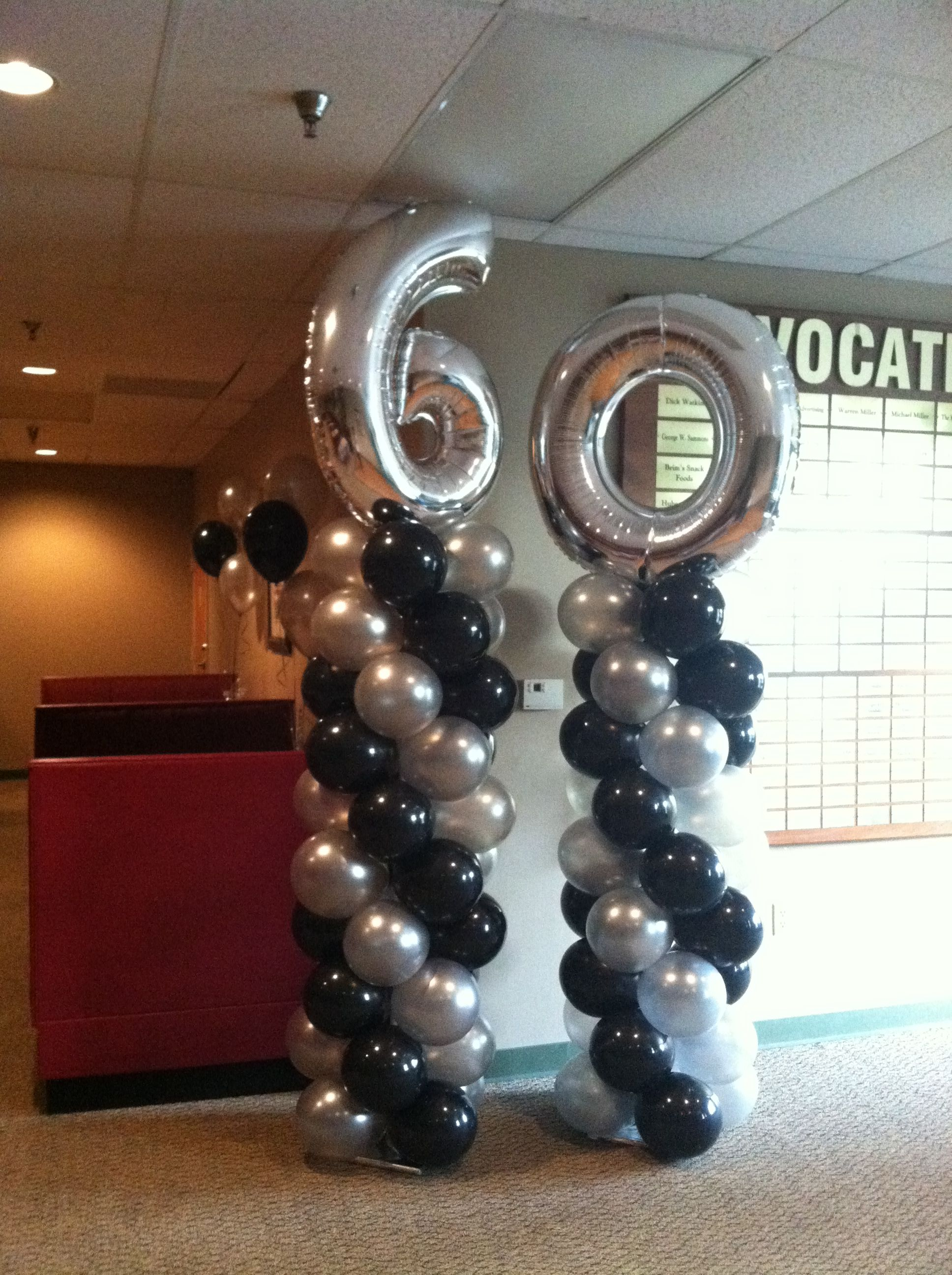 60th birthday party balloon decorations pinterest