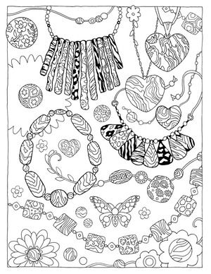 Fanciful Fashions Fashion Coloring Book Coloring Books Cute Coloring Pages