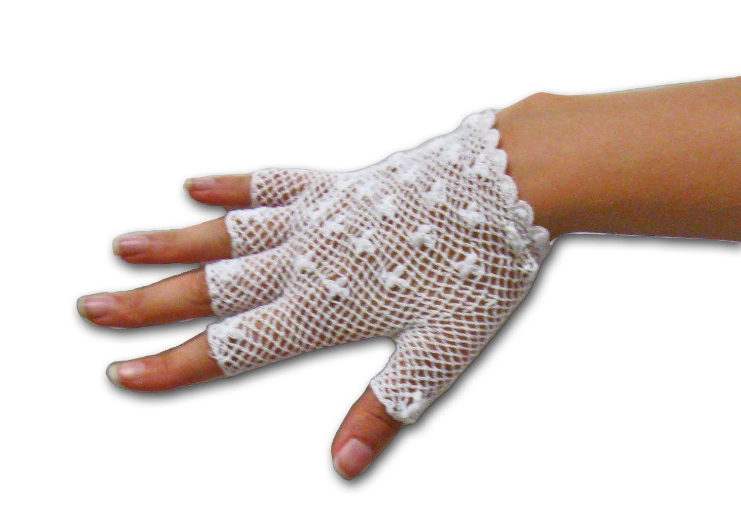 Crochet+Gloves+with+Fingers | Crochet Lace Gloves - Free Crochet ...