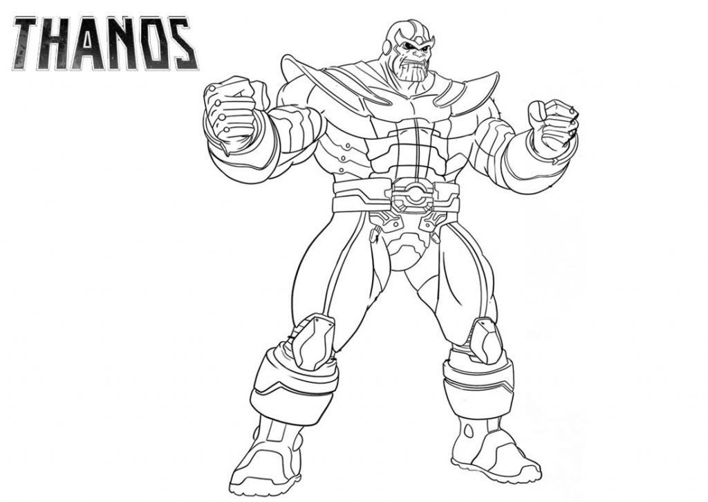 Thanos Coloring Pages Marvel E Disegni
