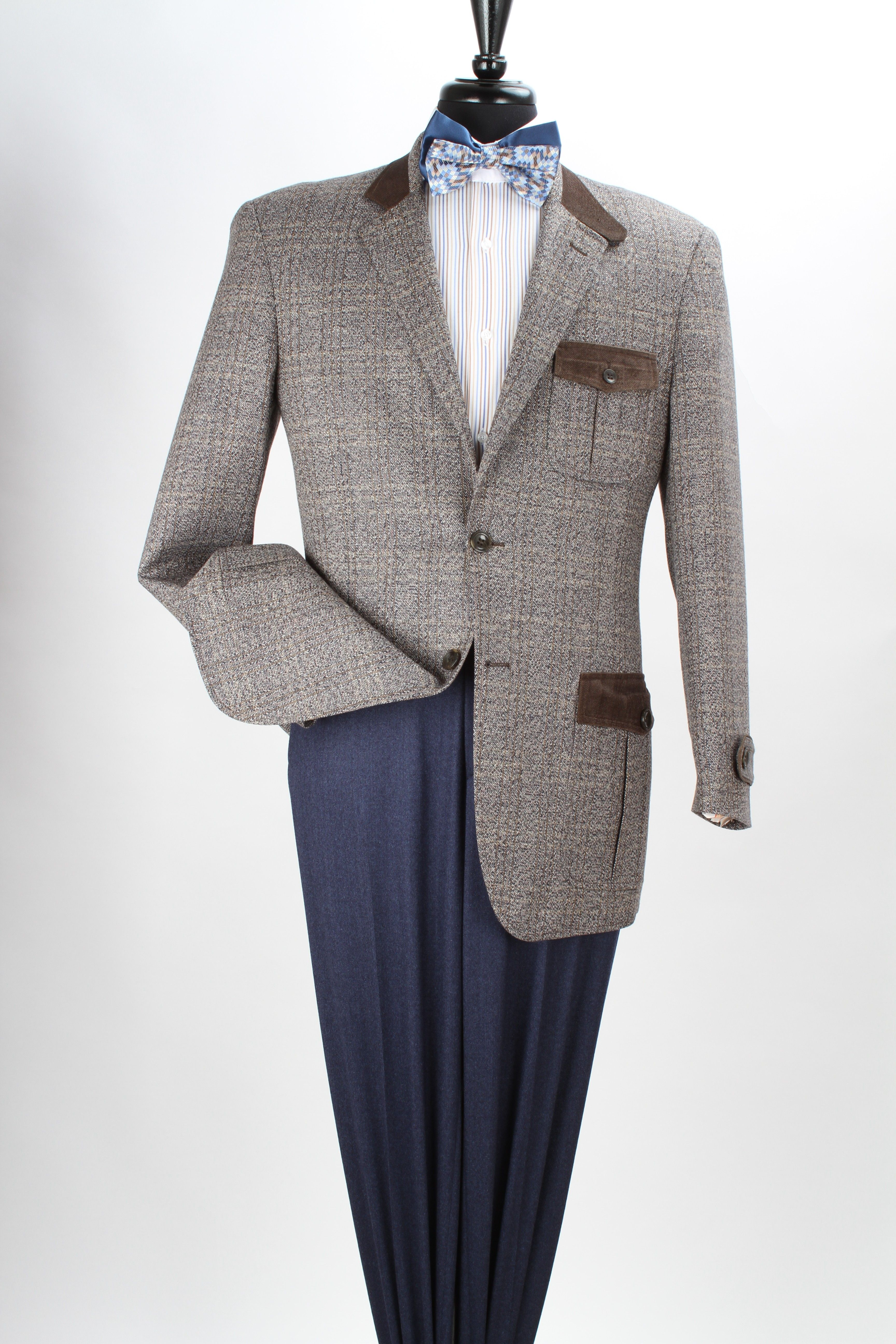 Royal Diamond Men's 100% Wool Super 150's Sport Coat - Fancy Trim ...