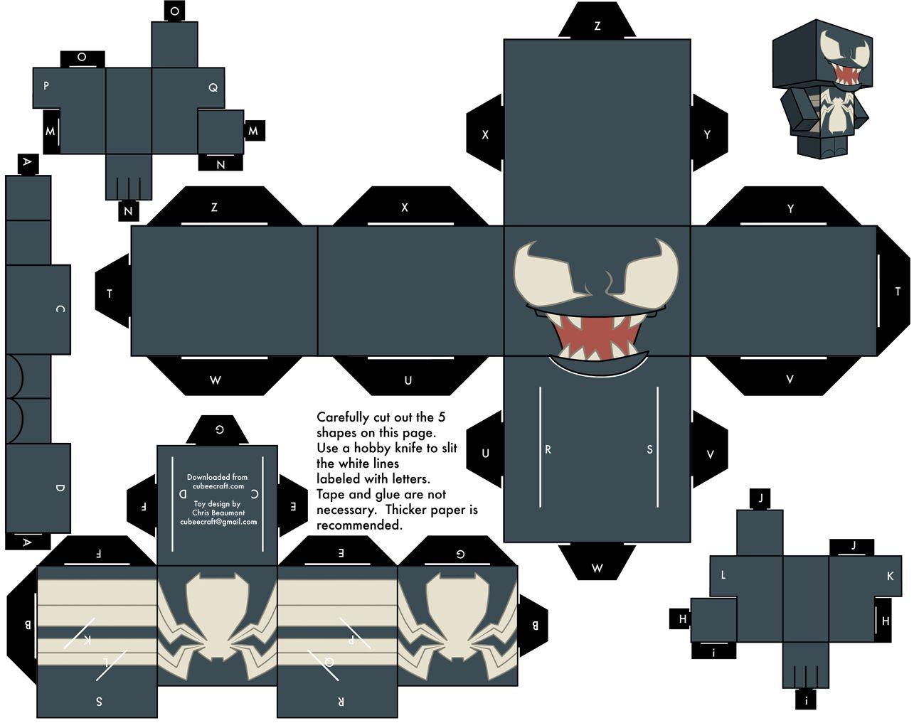 Paper craft casero Miku Hatsune Cubecraft, Manualidades