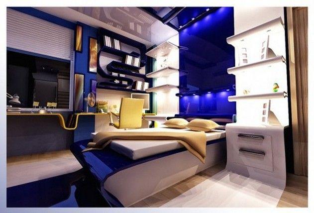 Dormitorios para jovenes varones young man s bedroom by for Recamaras modernas para jovenes