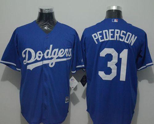 dodgers 31 joc pederson blue new cool base stitched mlb jersey
