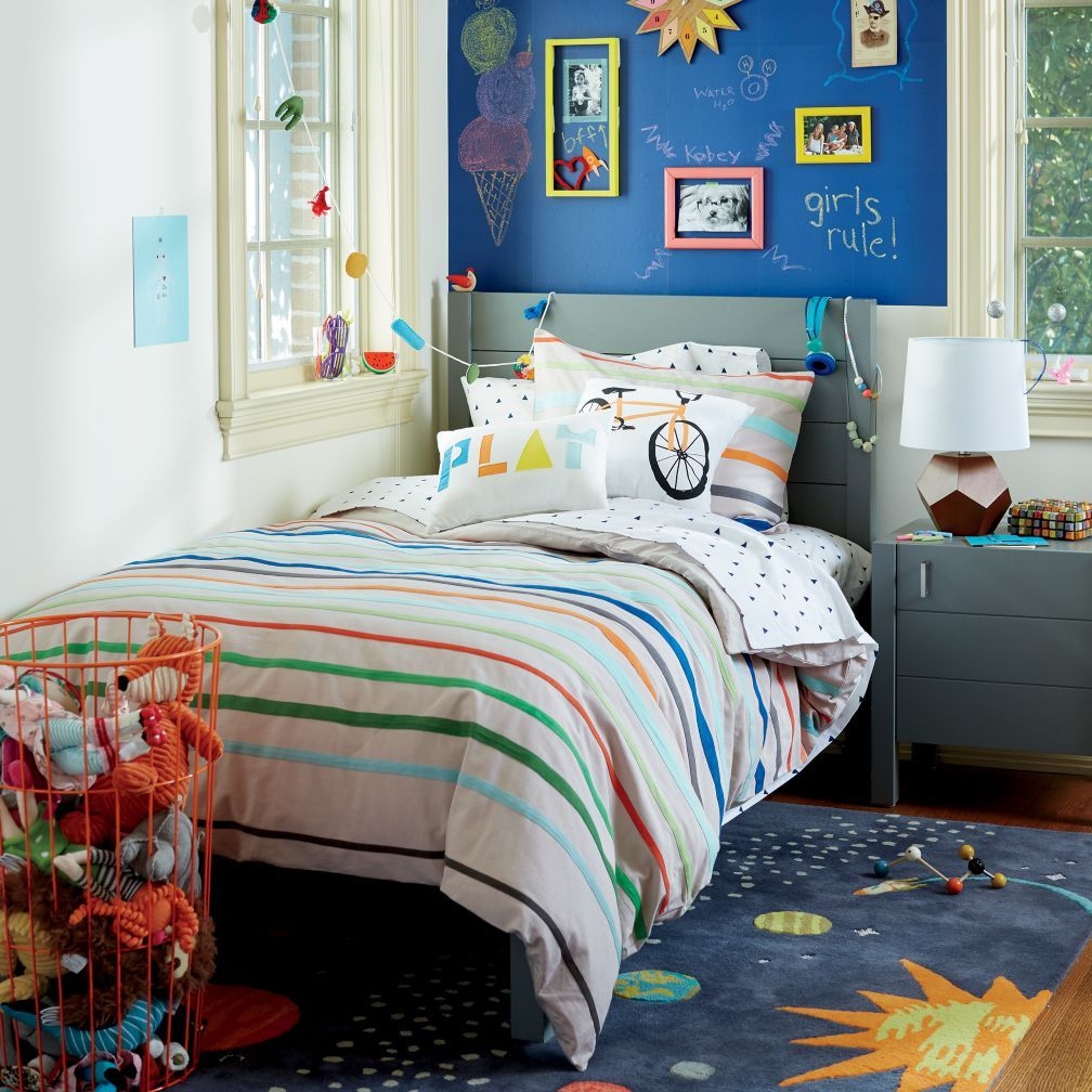Primary Bed (RedOrange) The Land of Nod Red bedding