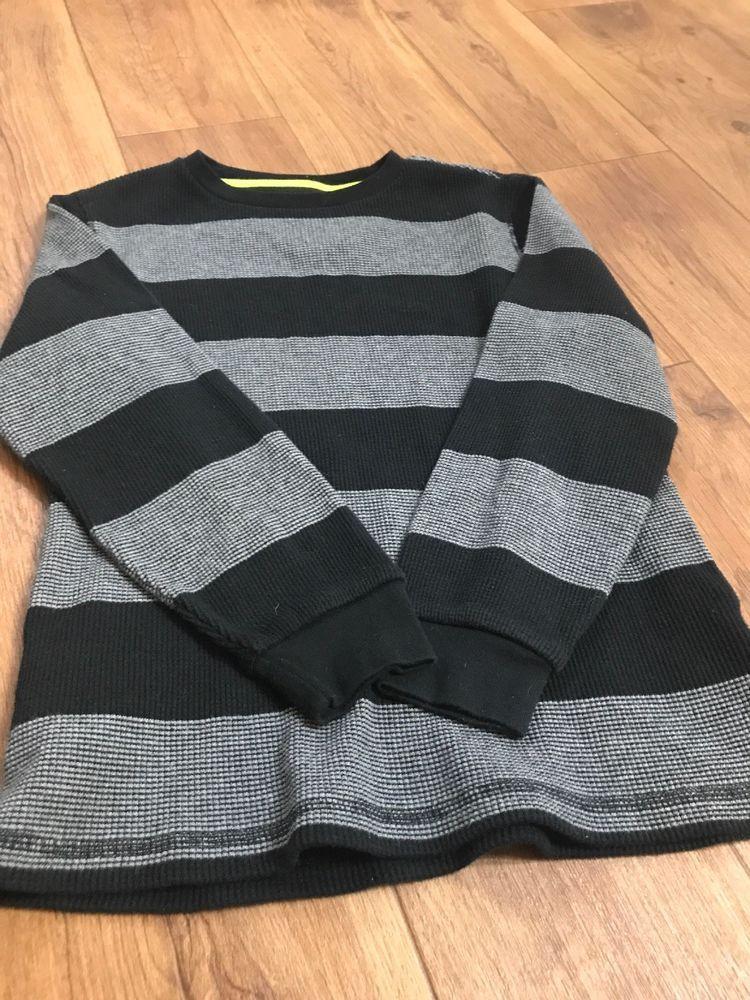 Old Navy Youth Boys Sweater Dark White Stripes Size M 8 Fashion