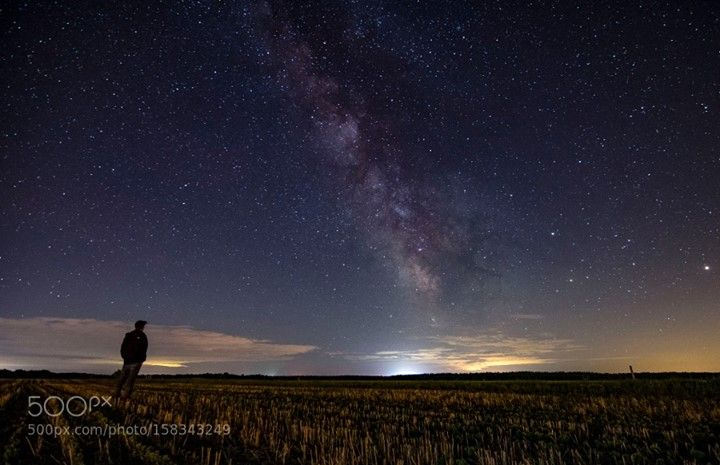 so small compare to the vastness of the universe  La voie lactée lors d'une nuit froide de juin.  Camera: NIKON D3300 Lens: 11.0-20.0 mm f/2.8 Focal Length: 11mm Shutter Speed: 25sec Aperture: f/2.8 ISO/Film: 1600  Image credit: http://ift.tt/1UKpiOo Visit http://ift.tt/1qPHad3 and read how to see the #MilkyWay  #Galaxy #Stars #Nightscape #Astrophotography