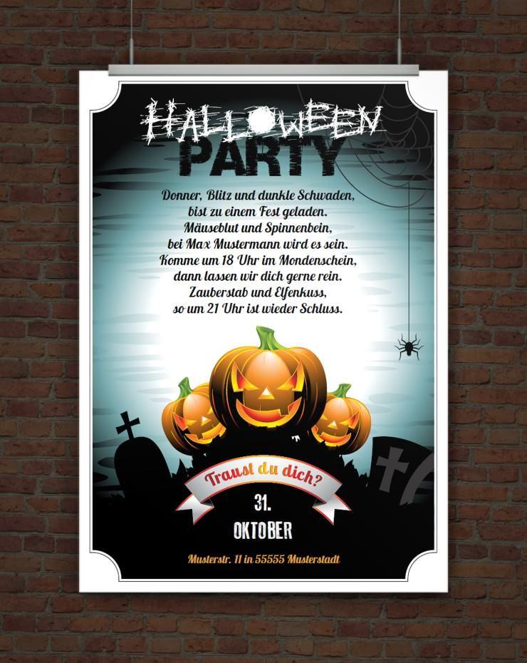Drucke Selbst Einladung Zur Halloweenparty Zum Ausdrucken Halloween Einladung Halloween Party Basteln Halloween Einladung Text