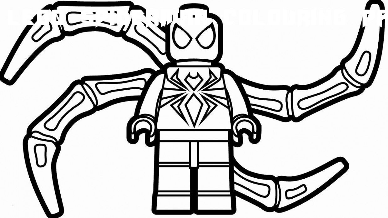 9 Lego Spiderman Colouring Pages in 9  Spiderman coloring