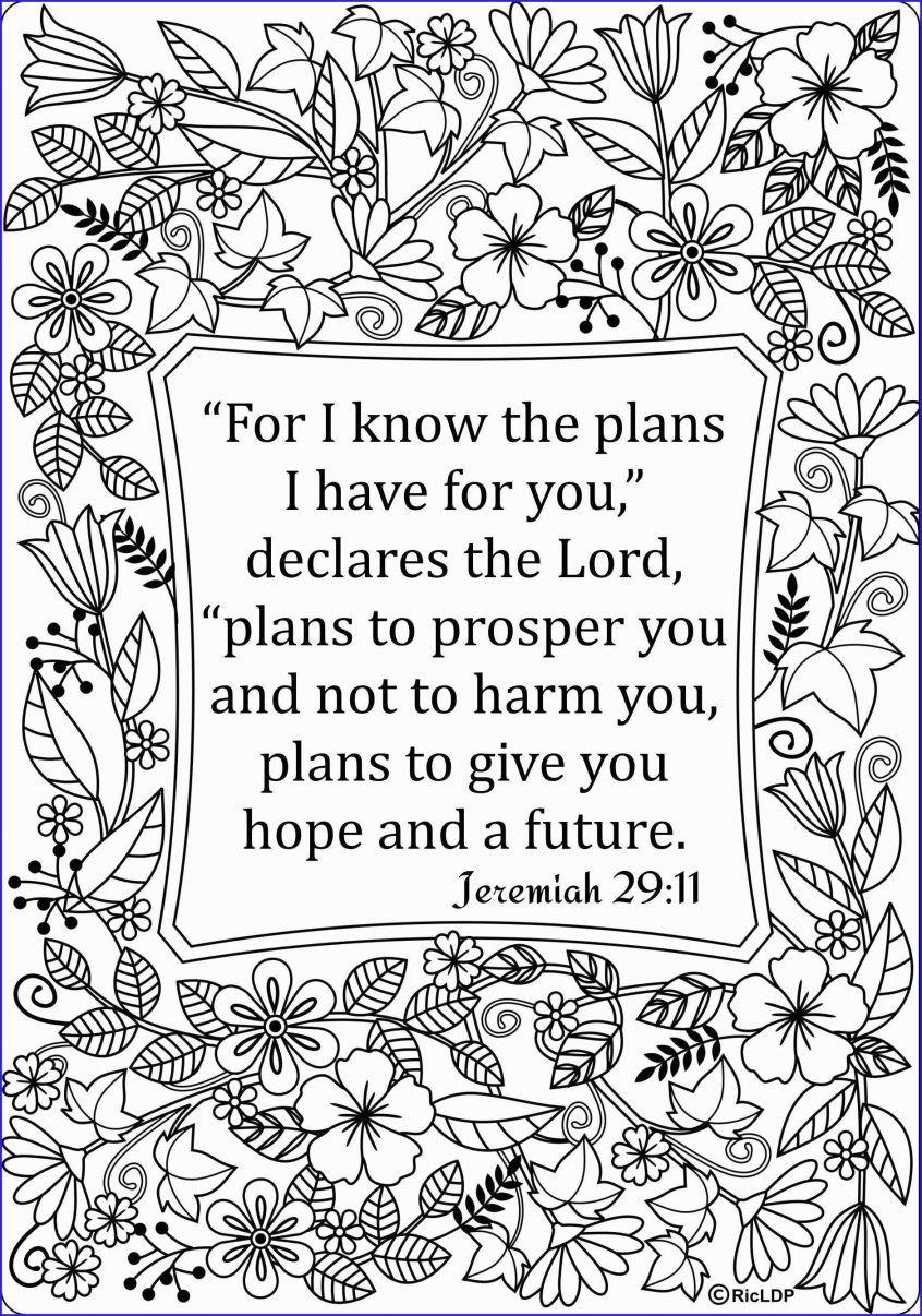 Jeremiah 29 11 Bible Verse Coloring Page Bible Verse Coloring