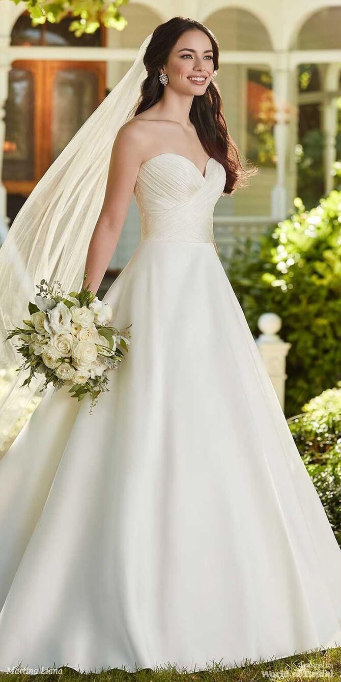 Martina liana spring understated ballgown wedding dress